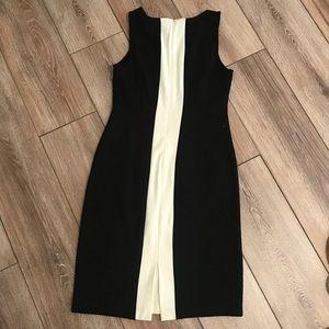 Worthington Dresses - Worthington black & ivory color block dress